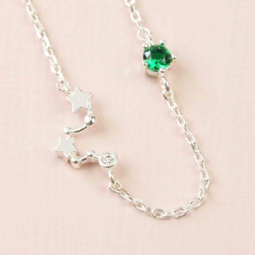 Gemini Constellation & Birthstone Necklace