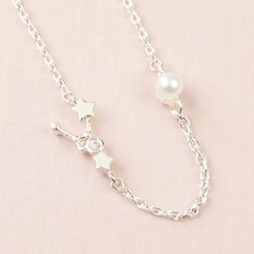 Cancer Constellation & Birthstone Necklace