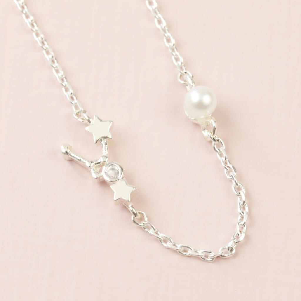 Cancer Constellation & Birthstone Necklace