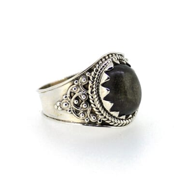 Golden-Sheen-Obsidian-Ring-Size-Q-7393