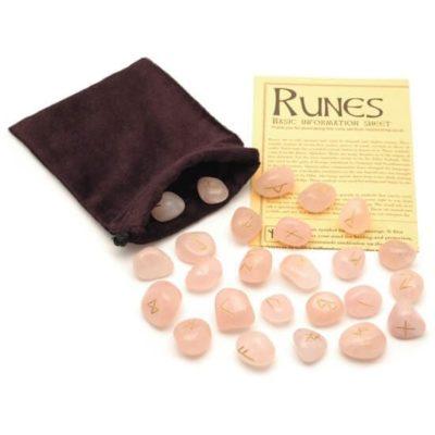 Rose Quartz Crystal Runes