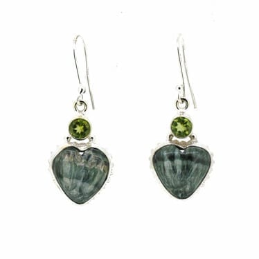 Seraphinite-and-Peridot-Earrings-7391