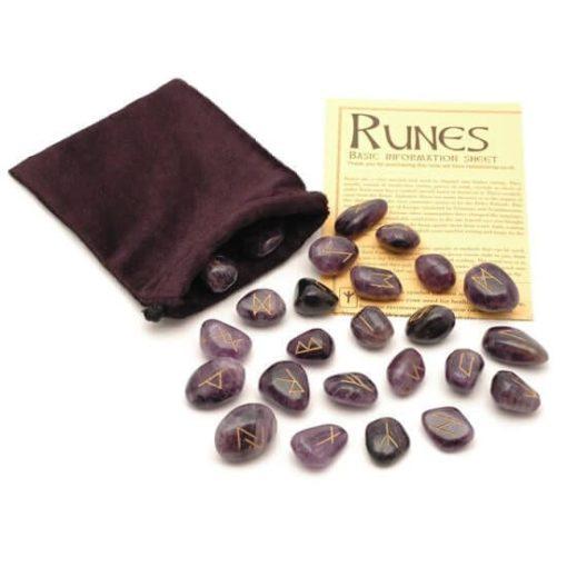 Amethyst Crystal Runes