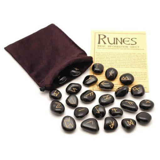 Black Jasper Crystal Runes