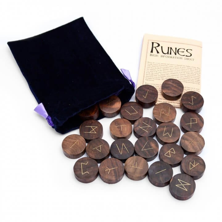 Hand Carved Wooden Runes