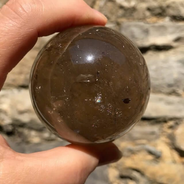 Smoky Quartz Sphere 58mm