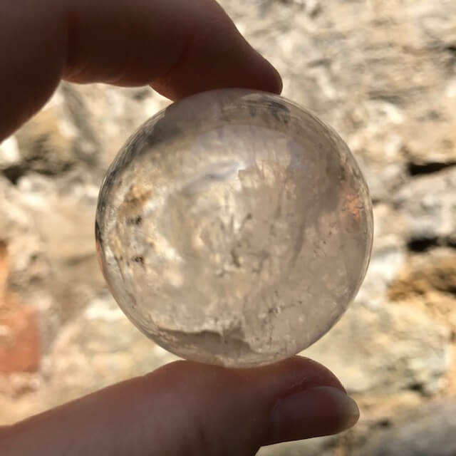Clear Quartz with Clouds Sphere 42mm