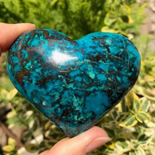 Chrysocolla Heart 70mm 7513