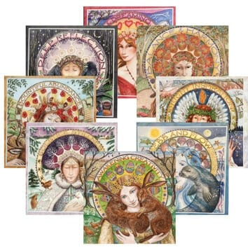 'Circular Seasons' Goddess Cards