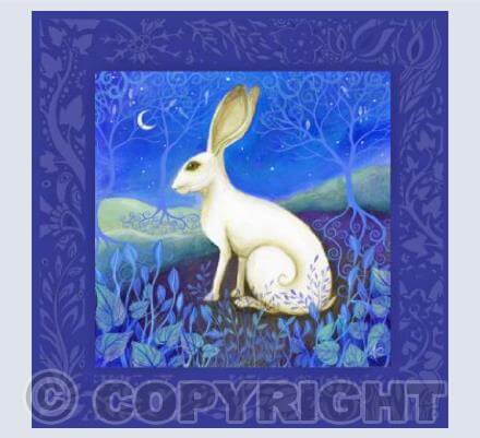 Hare Card by Amanda Clark
