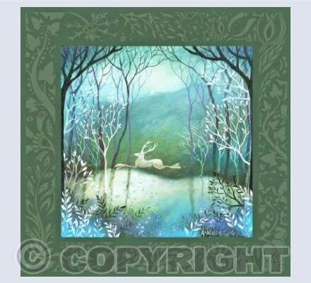 Moonlit Wood Card