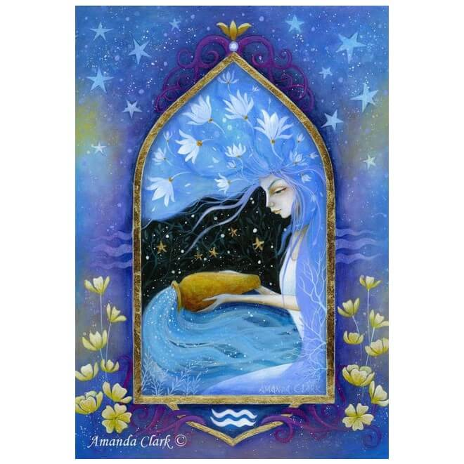 Aquarius Card by Amanda Clark