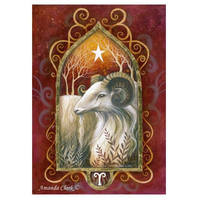 Aries Card by Amanda Clark
