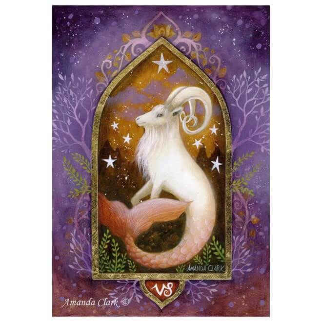 Capricorn Card by Amanda Clark