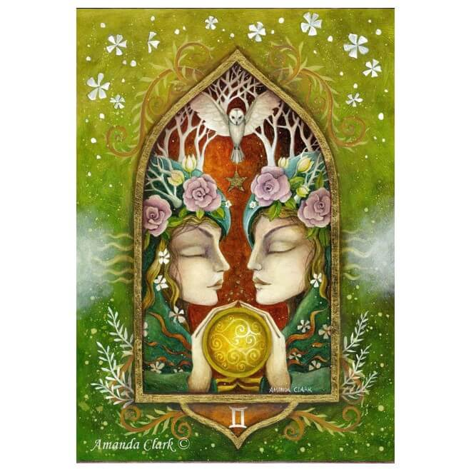 Gemini Card by Amanda Clark