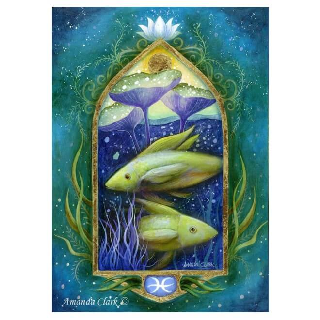 Pisces Card by Amanda Clark