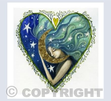 The Moon and The Stars Card