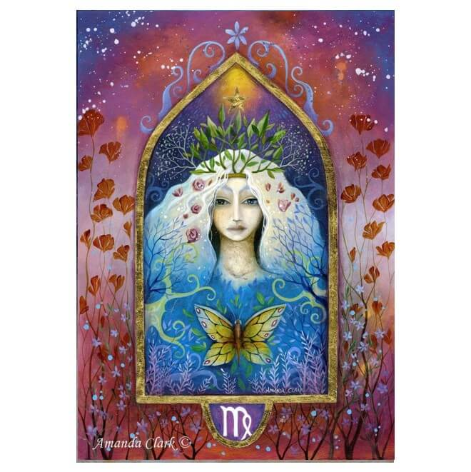 Virgo Card by Amanda Clark