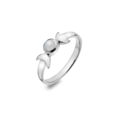 Triple Moon Moonstone Ring