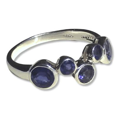 Iolite 5 Stone Ring